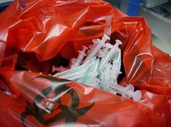 Custom medical hazmat disposable waste plastic bags